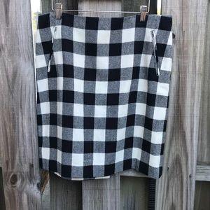 Buffalo Plaid Wool Skirt Size 12 by Talbots